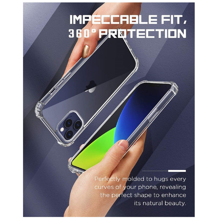 MoKo Anti-Yellow Shockproof Anti-Scratch Clear Protective Phone Case for iPhone 12 Pro Max 6.7 inch 2020