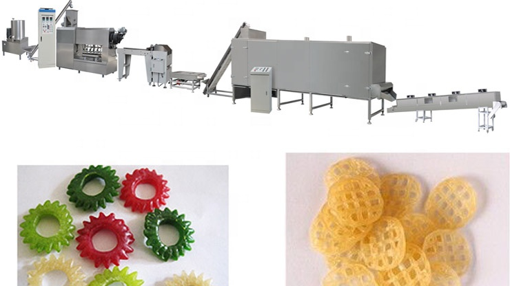 Automatic 2D Extruded Snack Pellet Processing Equipment Machine Line