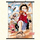 Picture Custom Decorative One Piece Lufft Poster Cartoon Wallscrolls Waterproof Anime Wall Scroll