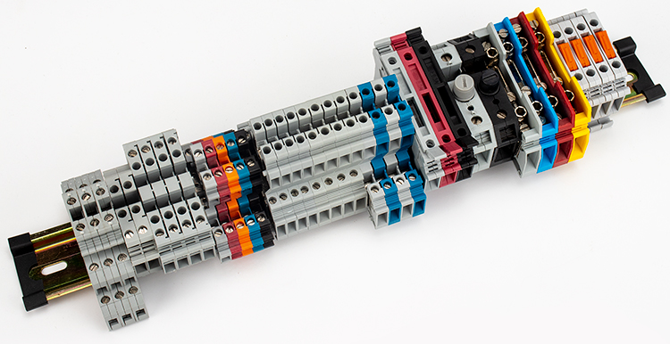 4-35mm2 din rail screw terminal blocks JUK35N