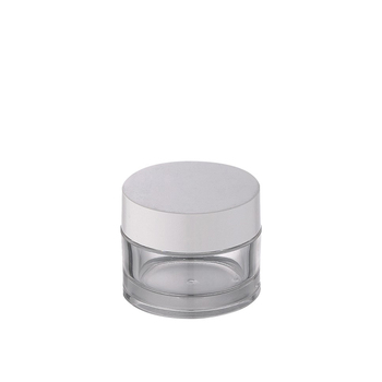 Eco friendly 50gv100g clear plastic cream jar with white lid