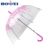 Print flower umbrellas quanzhou POE Transparent Umbrella For Promotion