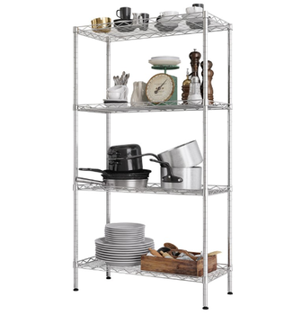 Chrome Coated Adjustable Steel Storage Shelving Metal Wire Modular Shelf Shelving