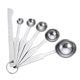 Best quality Reusable 6 pcs Measuring spoons tea spoon coffee spoon sets stainless steel measuring scoop cup tools