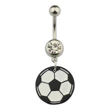 HONGTU 1 шт., сексуальные кольца для живота, на пуговицах, пирсинг, серьги для пупка, кольцо с колокольчиком, циркониевые подвески, Ombligo для женщи...(Китай)