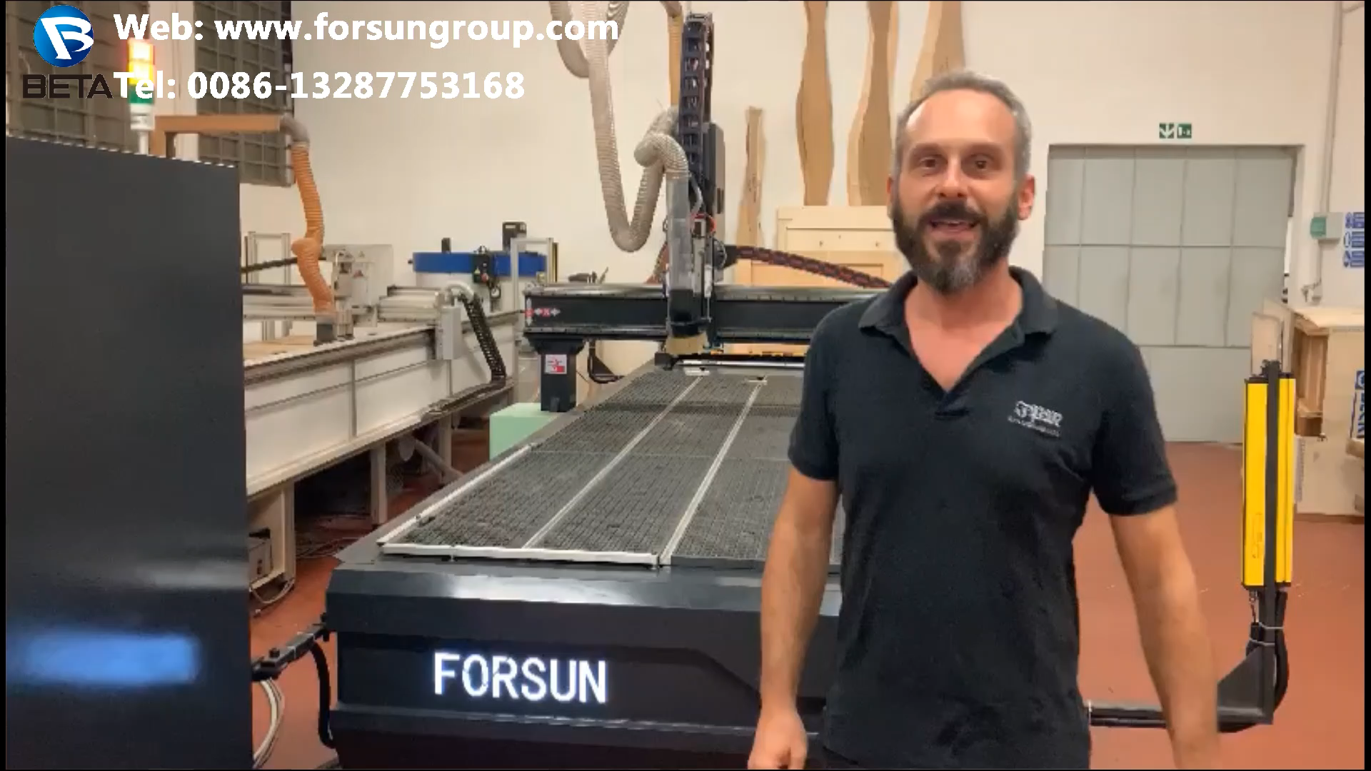 FORSUN CNC 4 spindle 4 rotary cnc router 1313 multi head wood carving