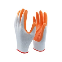 Best industrial leather nitrile gloves orange work for construction