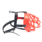High Quality pet adjustable dog mask werewolf mesh muzzle pet mask leather muzzle
