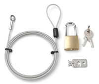 LKCP-0126S laptop exchangeable locks+computer laptop usb security anti-theft cable lock system