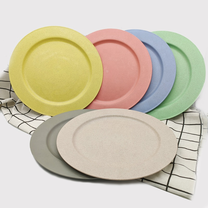 Best selling wholesale cheap wheat straw plastic <strong>plates</strong> 10 inch round dinner <strong>plate</strong> sets