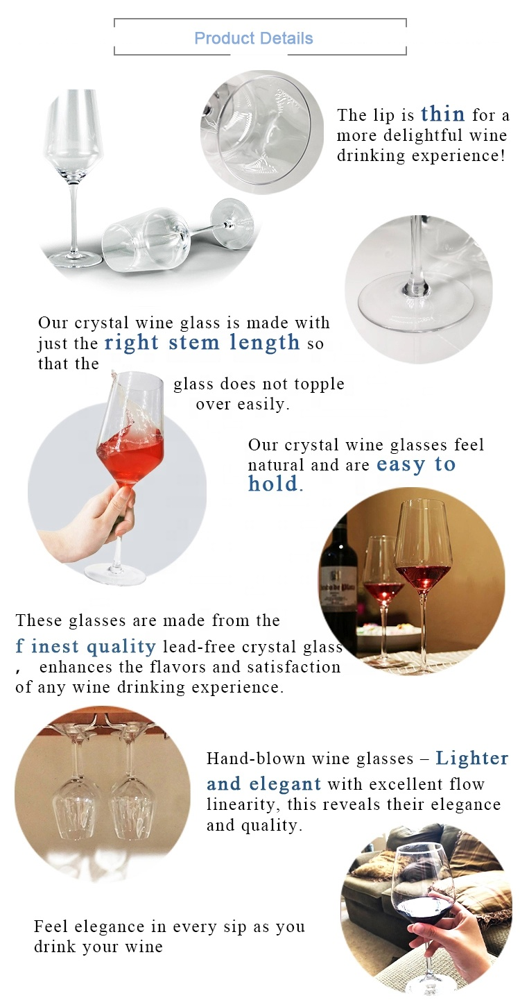 Wholesale Direct Selling Christmas Festival Celebrating Crystal Glass Wine Goblet Cup