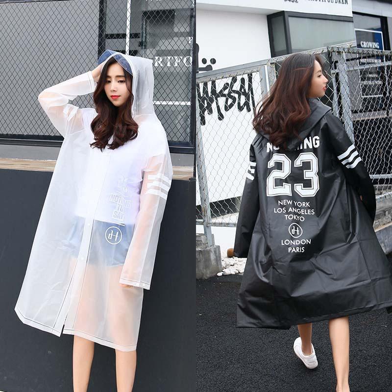 人気のロゴ透明エヴァレインコート女性のため、韓国と日本