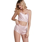 Fashion women sleepwear Sexy ladies Lingerie Nightwear Silk Pajama