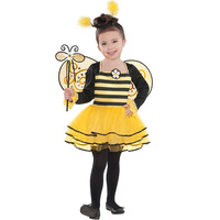 Halloween Carnival yellow adult woman girls children kids bumble bee costume