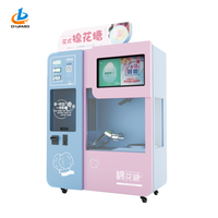 Latest Floss Flower Vending Automatic cotton candy making machine in world