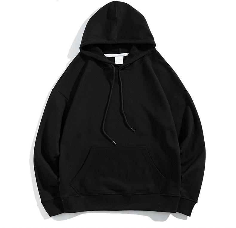 Wholesale bulk oversized bts custom xxxxl jumper blank plain black unisex streetwear pullover men's hoodies sweatshirts