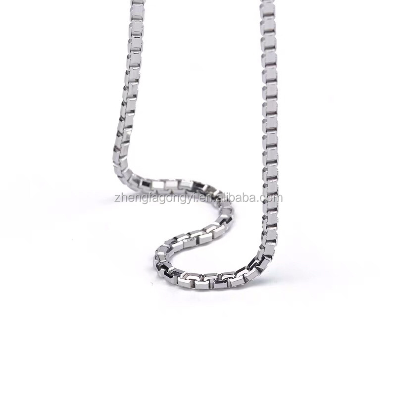 jewelry making supplies pure silver accessories box chain necklace