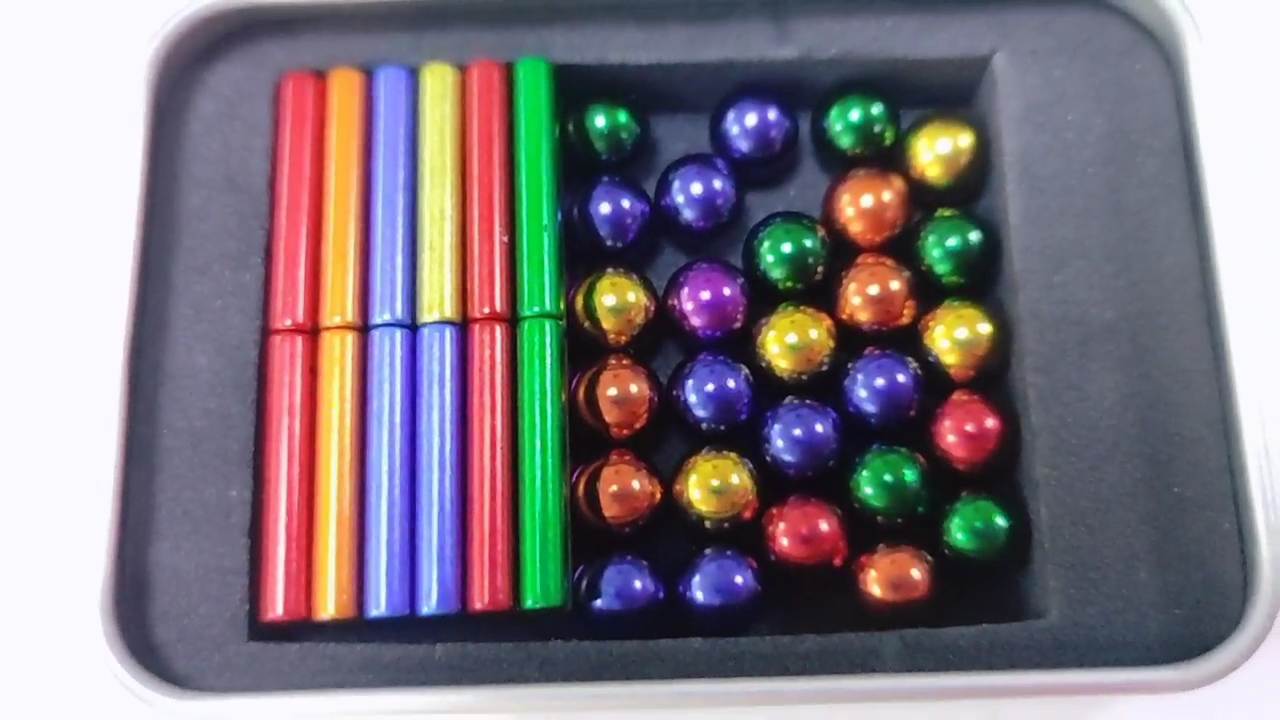 2021 Amazon Hot Sell Products 63pcs colorful and silver magnetic sticks and balls