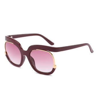 2019 Unique Sunglasses Ladies Top End Large Frame Colorful Red Pink Sun Glasses UV400 Oculos Feminino