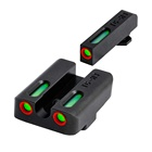 Red Green Fiber Optic Sight Front & Rear Front with Combat Rear Sights Focus-lock for Glock 17 19 PISTOL