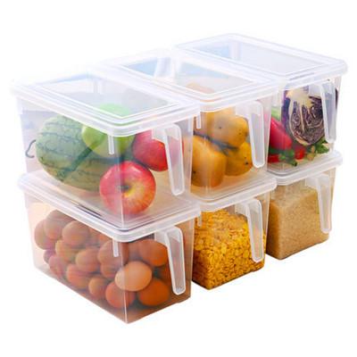 プラスチック製の収納容器食品収納オーガナイザーボックス蓋冷蔵庫冷蔵庫