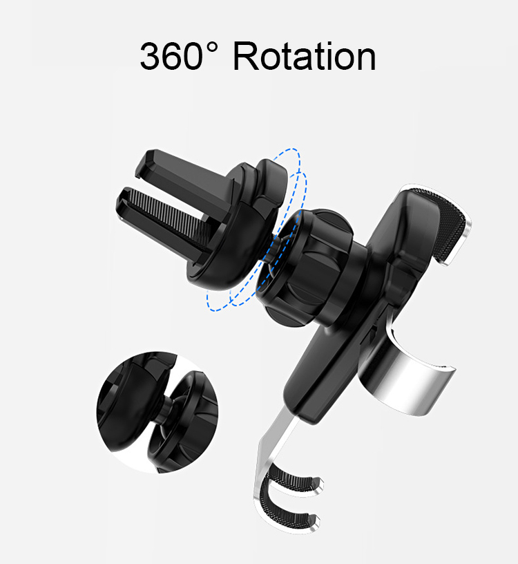 Gravitative Car Mount Universal Mobile Phone Holder Stand Clip Air Vent Mount Car holder