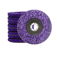 SATC Cleaning battery Diameter 4-1/2'' CBS Clean/Strip Disc for Angle Grinders, Purple, 115mm
