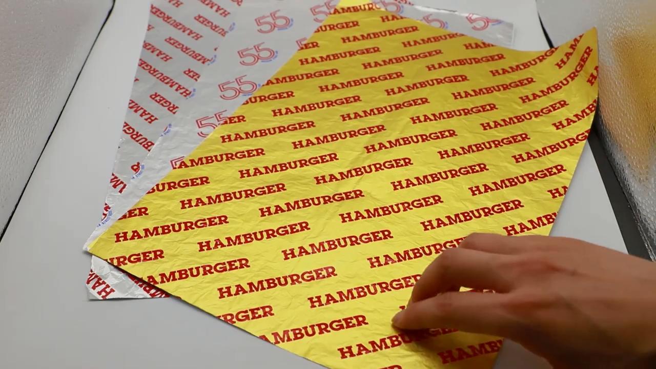 Pergament Non Stick Food Verpackung und Metallisierte Backen Pergament Papier rollen