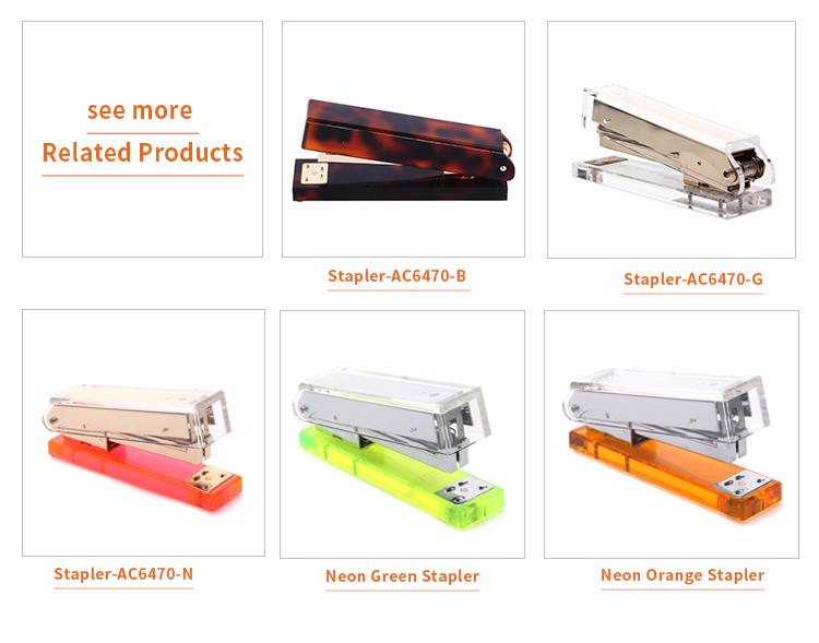 Accessori Per ufficio Rilegatura di Libri Multi-color Perspex Cucitrice senza Graffette