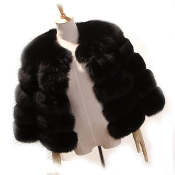 fur coat women real winter coat fur fox mink