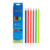 drawing best color OEM logo high 6pcs color wooden pencils neon paint neon color set in cardboard box