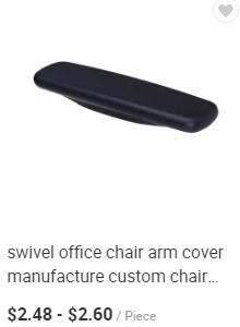 Herman miller piezas de repuesto gris/Negro color ergonómico silla de malla de universal brazo almohadillas kit para reformado silla