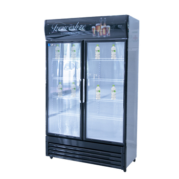 Commercial 2 door bar fridge for supermarket and convenience store