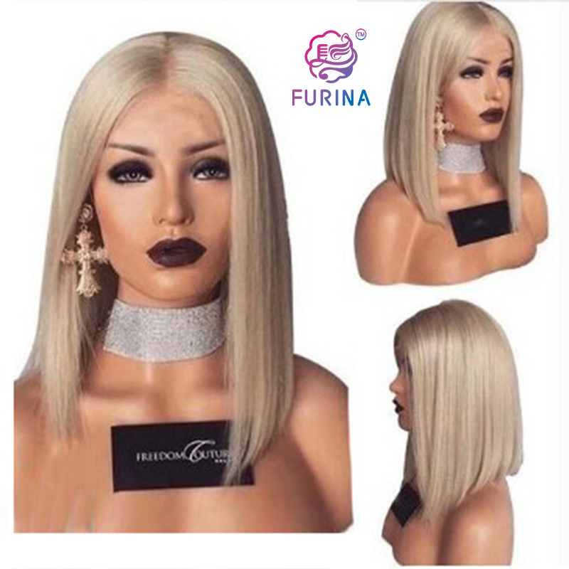 Free part bob synthetic wigs heat resistant short straight synthetic wigs heat resistant blonde