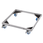 High quality steel adjustable refrigerator stand washing machine base with wheels