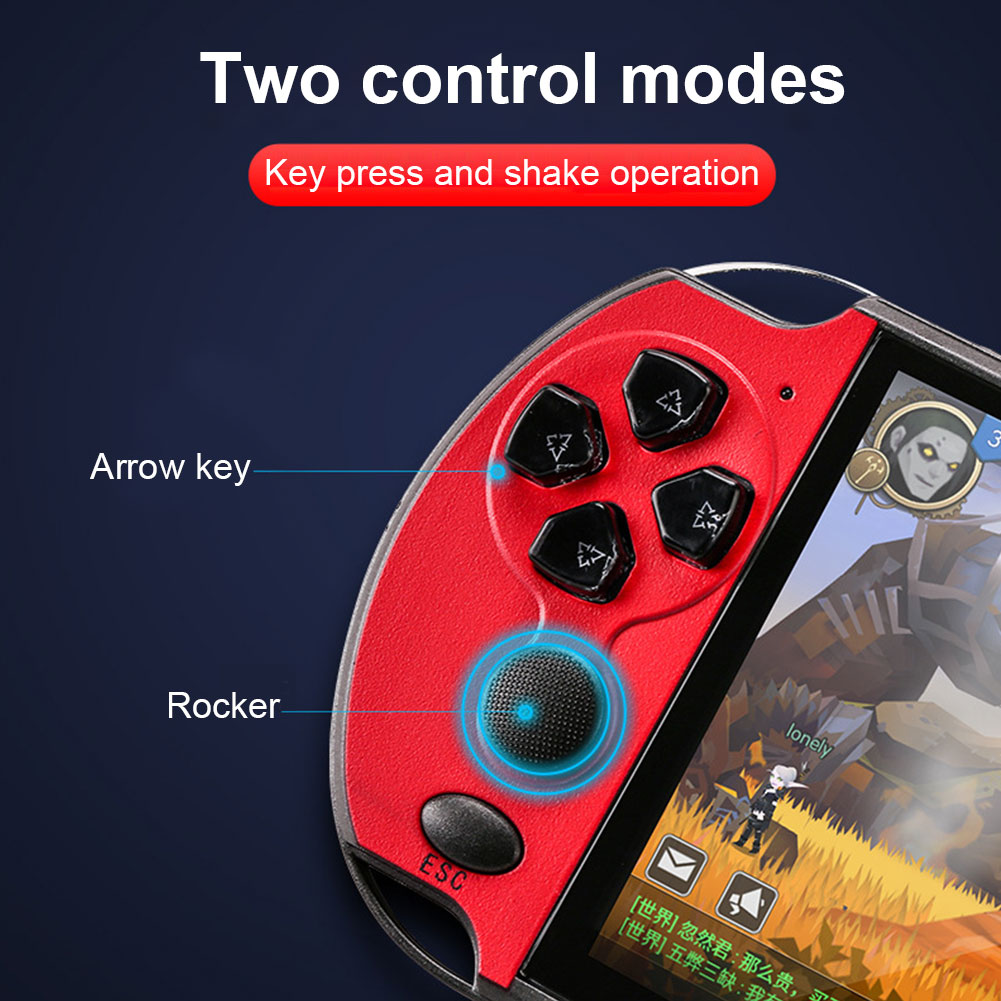 X7/X7 Plus 5.1inch Game Console Portable Camera MP5 HD Movies Double Rocker 8GB/16GB Video Kids Music LCD Rechargeable Handheld