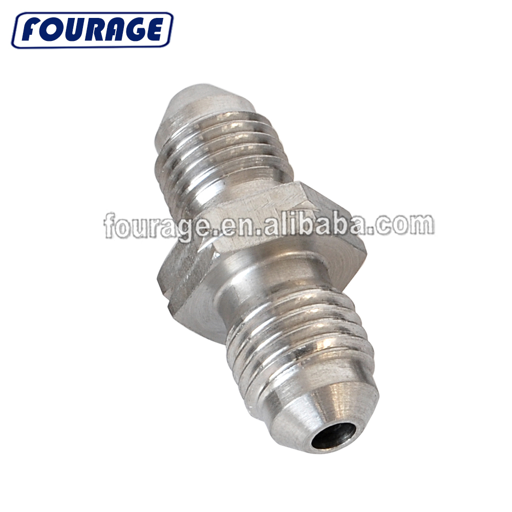 Female 8 AN to Male 8AN Flare 90 Degree Hose Union Bulkhead Fuel Fitting Adapter Forged Elbow Swivel Hose Connector Black Alumiunm Anodized