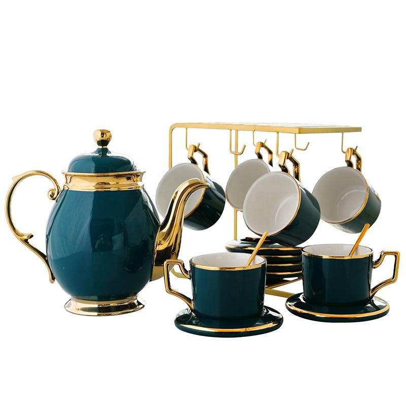İskandinav porselen çay ve kahve seti ev seramik tepsisi avrupa grace porselen çay seti