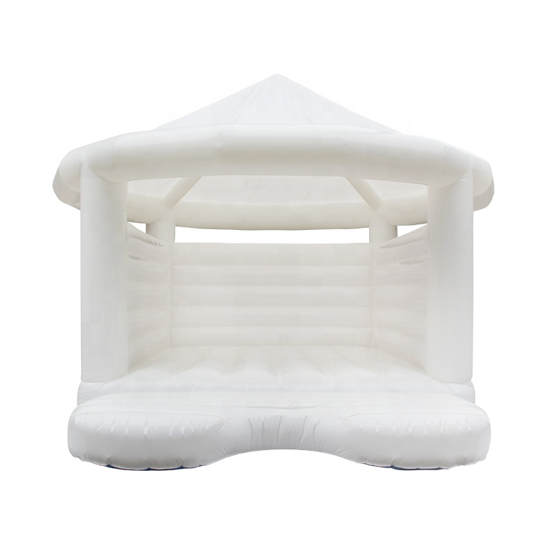 Business Big Inflatable Bouncer Commercial White Jumping Bounce House Adult Wedding Bouncy Castle for Sale