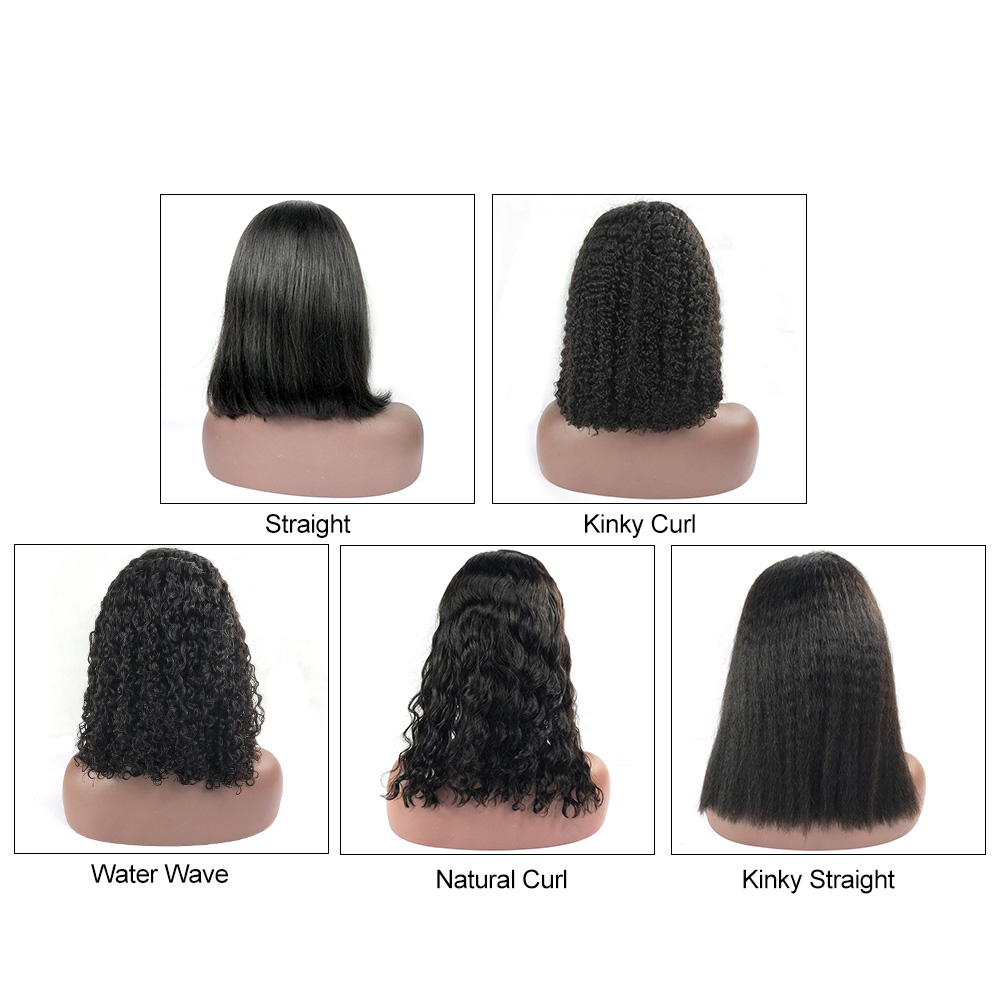 Cheap Human Hair 8 Inch Bob Wig For African American, Straight Short Lace Front Human Hair Bob Wig For Black Women