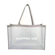 Facile Carring <span class=keywords><strong>Shopping</strong></span> <span class=keywords><strong>Bag</strong></span> Nera Eco-Friendly <span class=keywords><strong>Riutilizzabile</strong></span> Tote Sacchetto di Rete di Nylon <span class=keywords><strong>Shopping</strong></span> <span class=keywords><strong>Bag</strong></span> per Le Donne