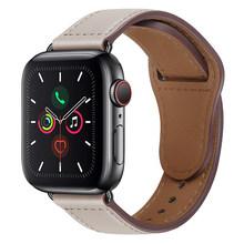 Кожаный ремешок для Apple watch band 44 мм 40 мм iWatch band 42 мм 38 мм итальянский ремешок для часов Браслет Apple watch 5 4 3 2 38 40 42 44 мм(Китай)