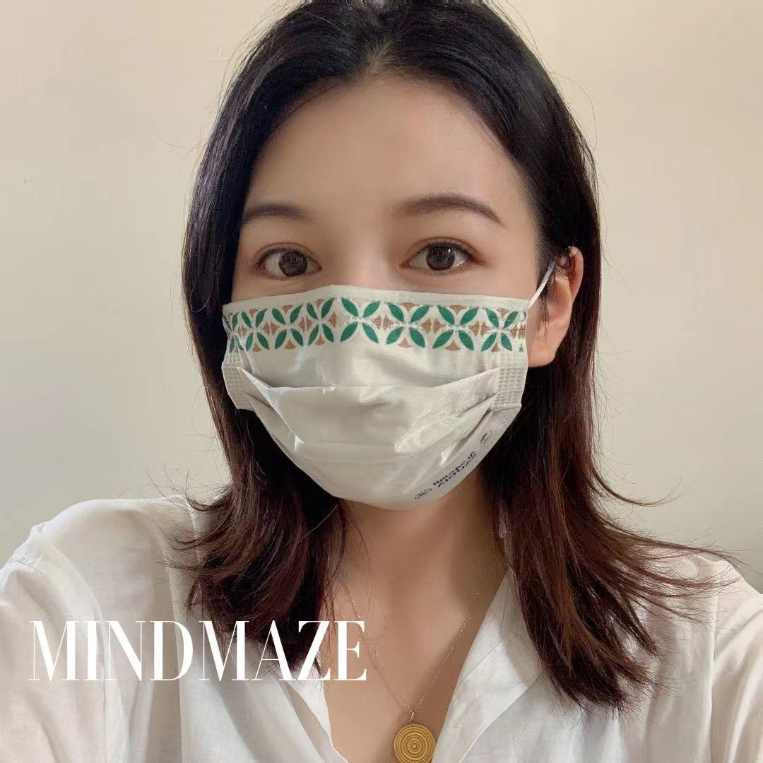 Custom wholesale disposable designer maskes 3 ply Black Certified 3 layer Disposable brand facemask (图6)