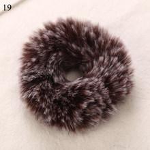 Женские эластичные резинки для волос, теплые мягкие резинки из кроличьего меха, аксессуары для волос, зима 2019(Китай)