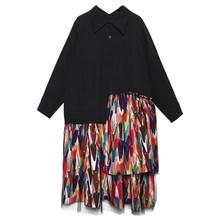 Женское платье-рубашка EAM, платье-пачка большого размера с длинным рукавом и отворотом, весенне-Осенняя мода 2020 1B199(Китай)