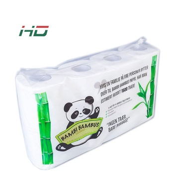 China factory customized printed white unbleaching embossed bamboo toilet tissue paper