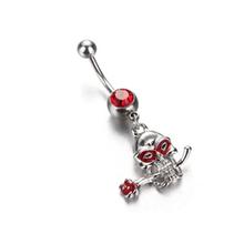 1 шт., кольцо из нержавеющей стали с кристаллом в виде сердца и живота, модная бабочка, пупок, пирсинг животных, Umbigo(Китай)