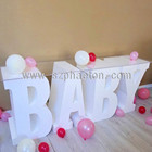 Baby letter / number table, baby shower cake table for kids birthday party supplies