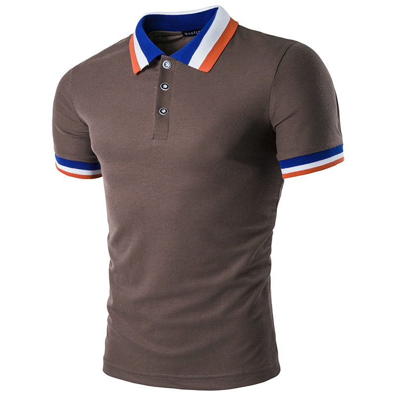 custom latest design mens color combination sports polo t shirt