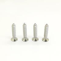 High hardness zinc plated flat head phillips self tapping wood screw